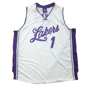 Vintage Lakers Womens XL Jersey Sleeveless Top